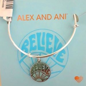 """Alex and Ani """"Believe in Yourself"""" Silver Bracelet"""